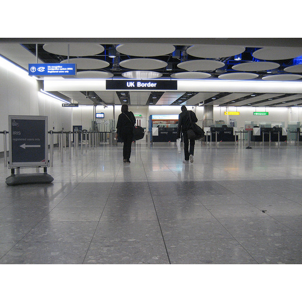 The UK Border at Heathrow Airport (https://www.flickr.com/photos/dannyman/4672474943/)