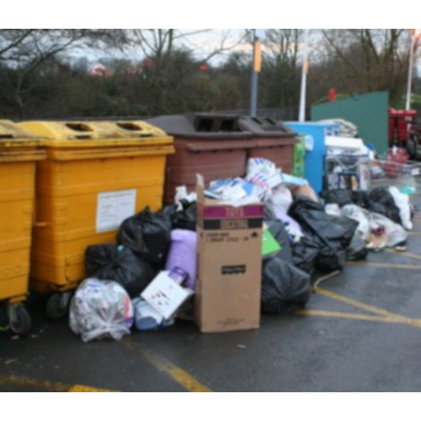 Fly Tipping at Local Recycling Centre