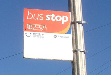 Bus stop sign pic